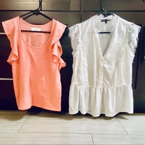 2 Beautiful Flutter Tops Madewell/Gibson XS NWOT